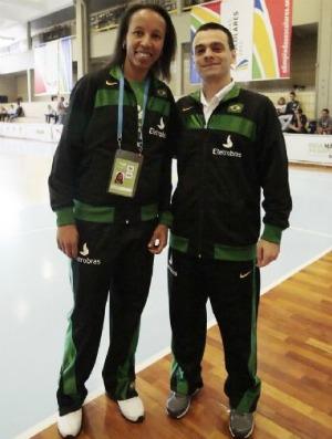 Janeth e Cristiano Cedra, Olimpíadas Escolares em Curitiba (PR) (Foto: Divulgação / COB)