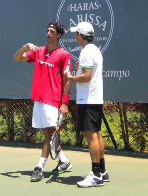 tênis Thomaz Bellucci e Orsanic treinam em Monte Mor (Foto: Felipe Priante)