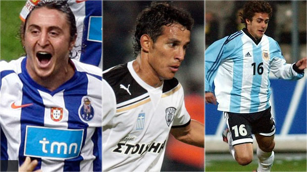 Cristian Rodriguez, Diego Arías e Pablo Aimar (Foto: Arte / Globoesporte.com)