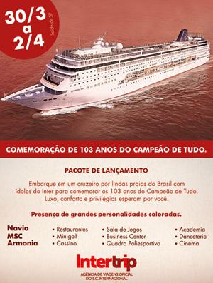 Navio do Internacional (Foto: Divulgação)