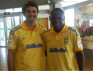 Goleiros Marquinhos e Willian, seleção brasileira de futebol de areia (Foto: Divulgação / CBBS)