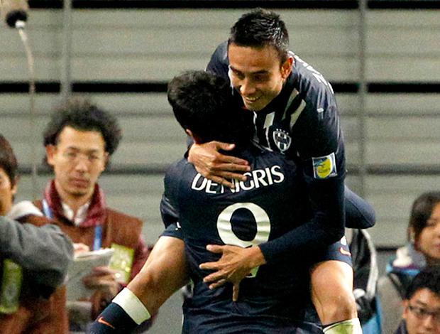jesus zavala e aldo de Nigris monterrey gol espérance mundial de clubes (Foto: Agência AP)