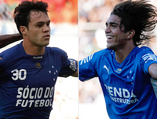 Montagem Kléber Gladiador e o Marcelo Moreno pelo Cruzeiro (Foto: Editoria de Arte/Globoesporte.com)