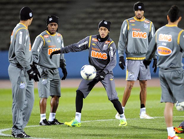 neymar santos treino (Foto: Agência EFE)
