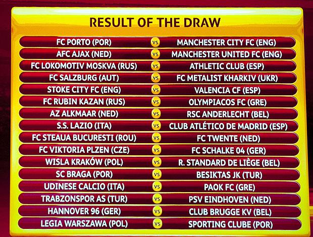 sorteio da Liga Europa  (Foto: AFP)