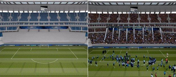 Montagem da Arena do Grêmio (Foto: Divulgação)