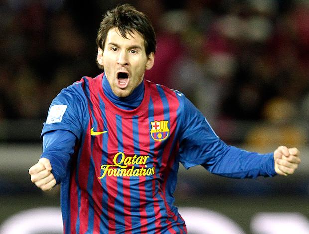 messi barcelona gol santos (Foto: Agência AP)