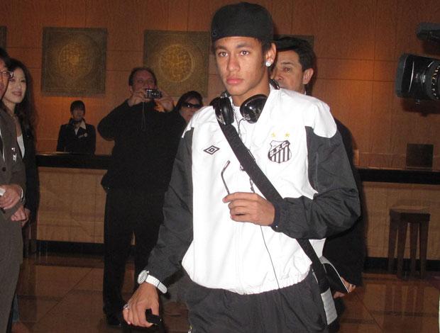 saida do santos do hotel rumo ao aeroporto - Neymar (Foto: Thiago Dias/Globoesporte.com)