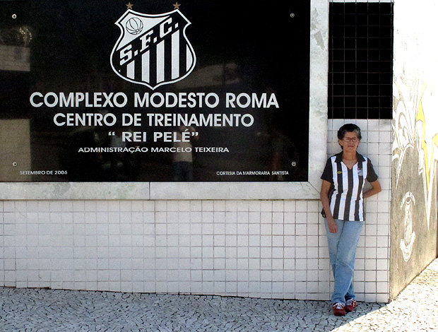 Rosa Bezerra da Luz santos CT (Foto: Renato Cury / Globoesporte.com)