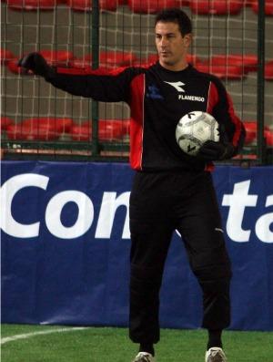 Robertinho, goleiro do Flamengo no showbol (Foto: Divulgação)