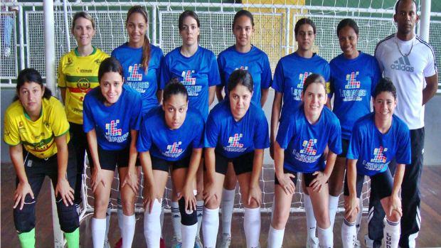 FM Linhares, campeão estadual de futsal feminino (Foto: Divulgação)