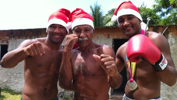 Esquiva Falcão, Touro Moreno e Yamaguchi Falcão, boxeadores capixabas (Foto: Bruno Marques/Globoesporte.com)