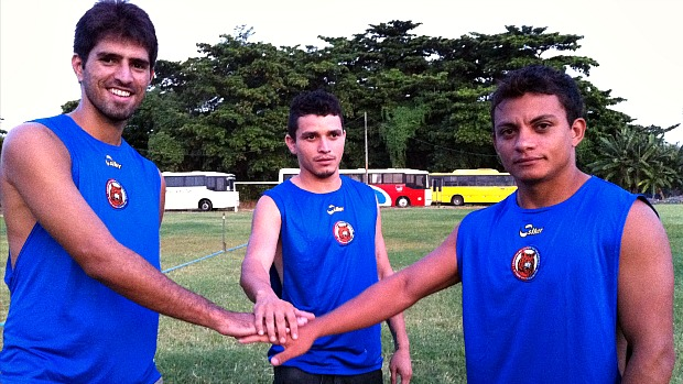 Cleiton (esquerda), Netinho (centro) e Niel (direita) marcaram 34 gols no último Estadual (Foto: Diego Morais / Globoesporte.com)