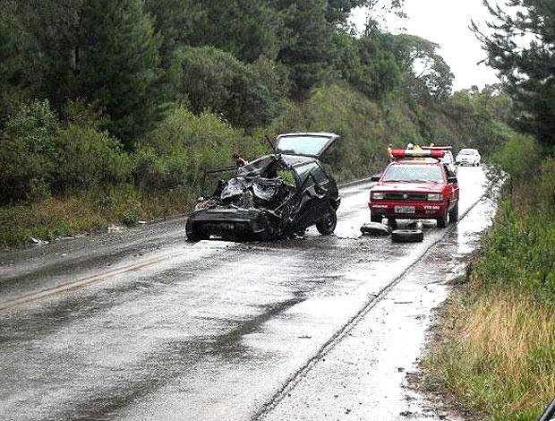 Catê sofre acidente fatal (Foto: Corpo de Bombeiros Voluntários de Antônio Prado / Divulgação)