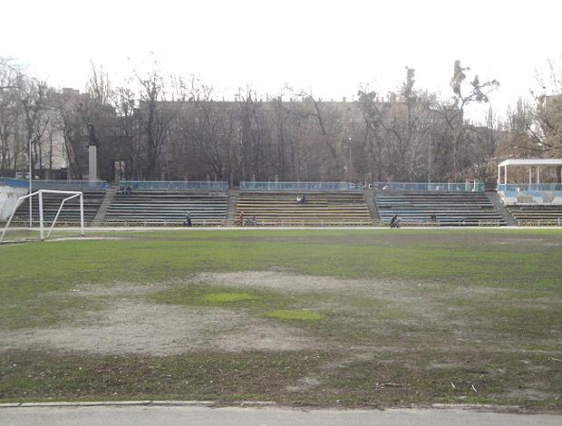 campo do Star Jogo da Morte na Ucrânia (Foto: Rafael Maranhão / GLOBOESPORTE.COM)