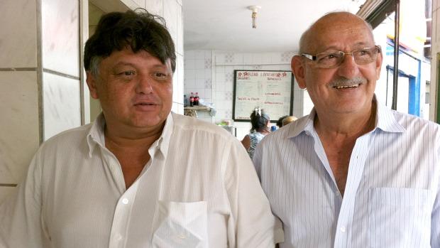 Luizinho e Luiz Torquato: pai e filho comandam o Guarany de Sobral há mais de 30 anos (Foto: Diego Morais / Globoesporte.com)