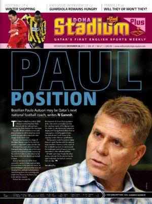 Capa de revista do Qatar sobre Paulo Autuori na seleção do país (Foto: Reprodução)