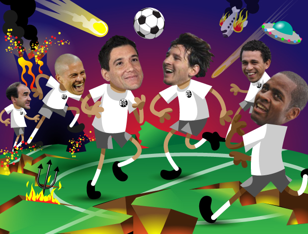 ilustração Fim do Mundo (Foto: ArteEsporte / Cláudio Roberto)