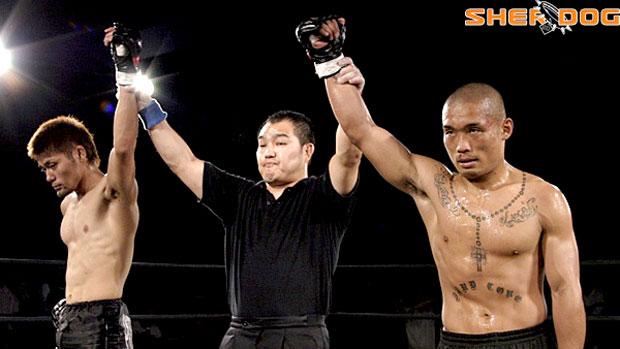 Tomoya Miyashita durante luta (Foto: Reprodução)
