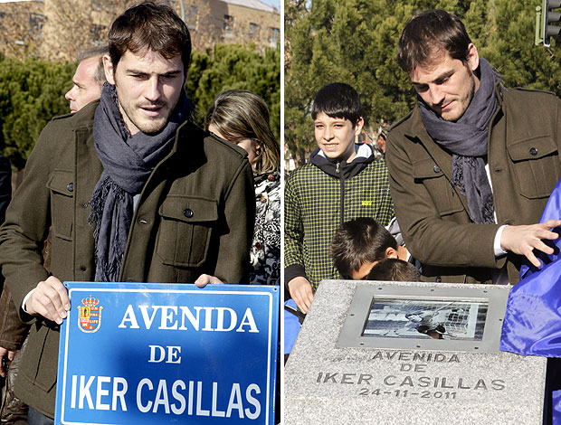 Iker Casillas inaugura rua com seu nome (Foto: EFE)