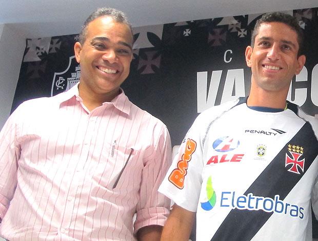 Daniel Freitas na apresentação de Thiago Feltri (Foto: Thiago Fernandes / GLOBOESPORTE.COM)