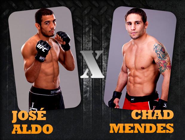 card confrontos UFC José Aldo x Chad Mendes (Foto: Editoria de Arte / GLOBOESPORTE.COM)
