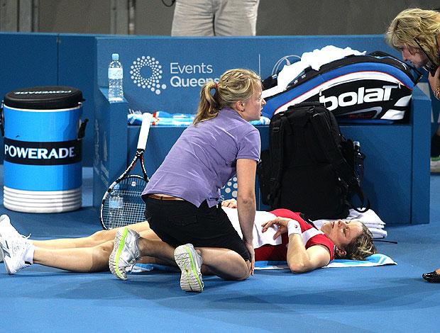 Kim Clijsters Brisbane atendimento médico tênis (Foto: Agência Getty Images)