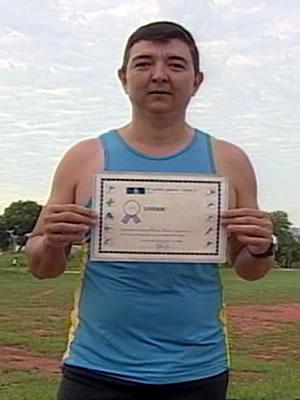 Subtenente de profissão e atleta nas horas vagas participou de todas as edições da Corrida de Reis (Foto: Reprodução/TVCA)