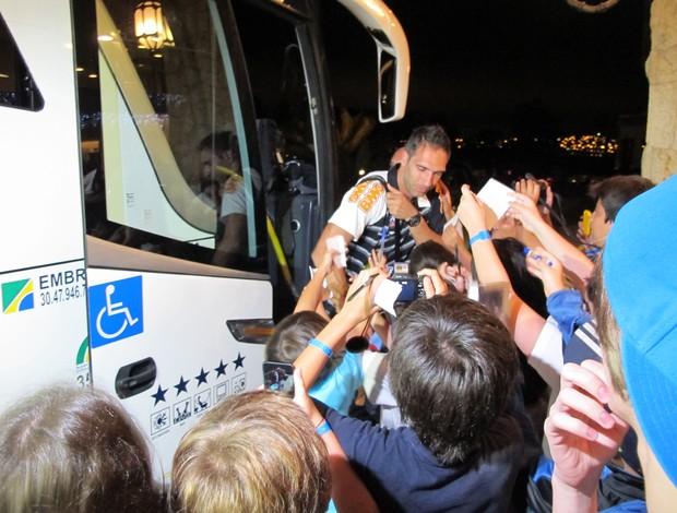 Fernando Prass, em Atibaia (Foto: Gustavo Rotstein / Globoesporte.com)