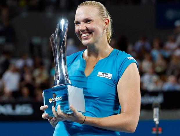 Kaia Kanepi wta de brisbane troféu (Foto: Agência Reuters)