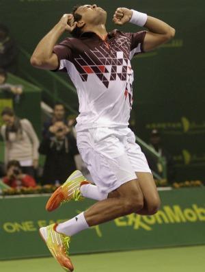 Tsonga vence final francesa no ATP de Doha (Foto: Reuters)