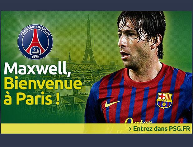 PSG anuncia Maxwell (Foto: Reprodução / Site Oficial)