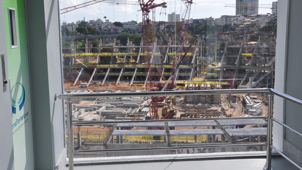 Fonte Nova; centro de visitação; obras (Foto: Eric Luis Carvalho/Globoesporte.com)