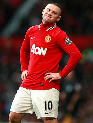 Rooney após perder penalti na partida do Manchester United (Foto: AP)