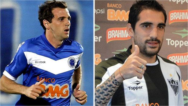 Montillo e Escudero são os argentinos dos times mineiros (Foto: Arte / Globoesporte.com)