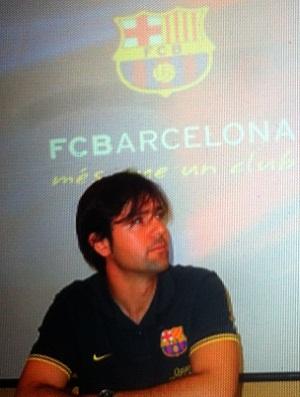 Participante da clínica do Barça no RJ (Foto: Thiago Barros / GLOBOESPORTE.COM)