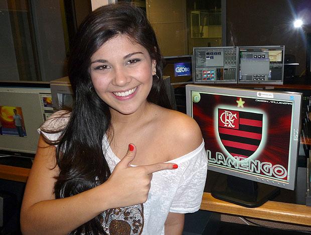 Luiza Canadá Jornal Hoje Flamengo (Foto: Sergio Gandolphi / Globoesporte.com)