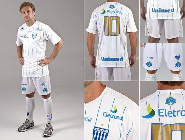 Novo uniforme 2 do Avaí - 2012 (Foto: Divulgação/Avaí)