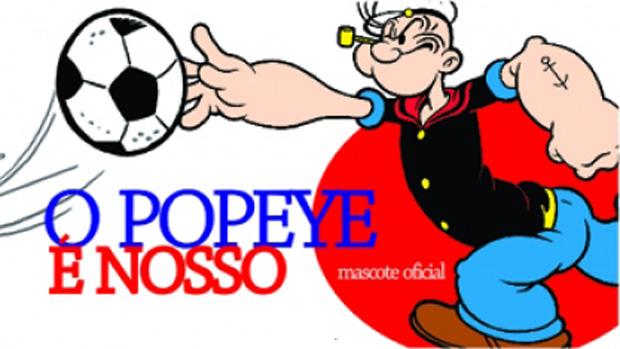 Marinheiro Popeye é oficialmente o novo mascote do Marcílio Dias (Foto: Divulgação/Site Oficial do Marcílio Dias)