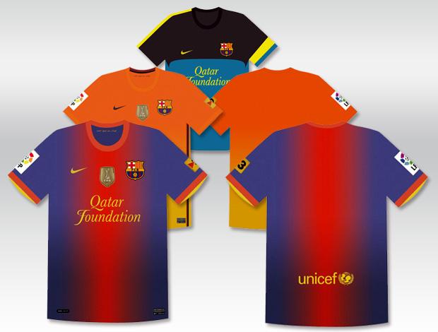 nova camisa uniforme barcelona (Foto: Divulgação)