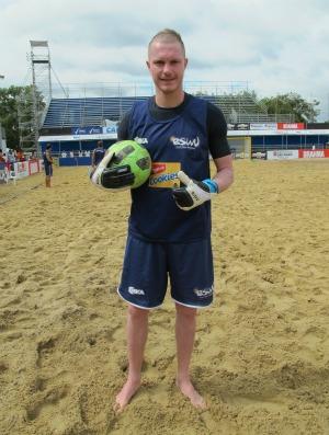 Goleiro russo Bukhlitskiy futebol de areia seleção do mundo (Foto: Igor Christ / Globoesporte.com)