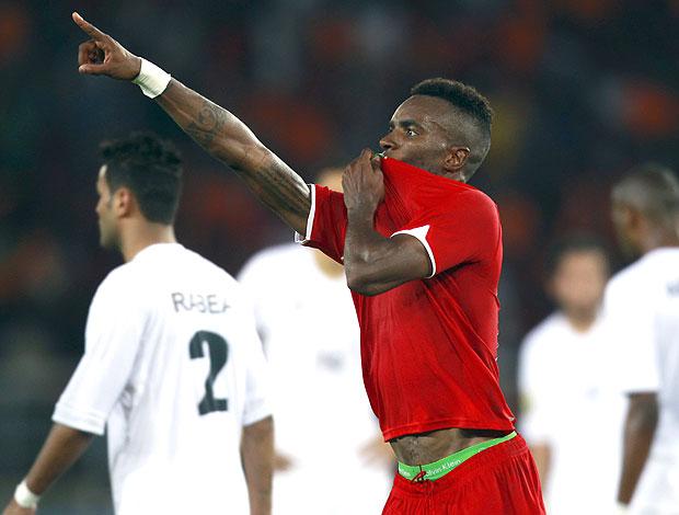 Balboa gol Líbia (Foto: Reuters)