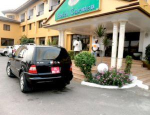 Hotel da concentração de Zâmbia na Copa Africana de Nações (Foto: Reprodução)