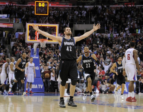 NBA Minnesota Timberwolves x Los Angeles Clippers Kevin Love (Foto: AP)