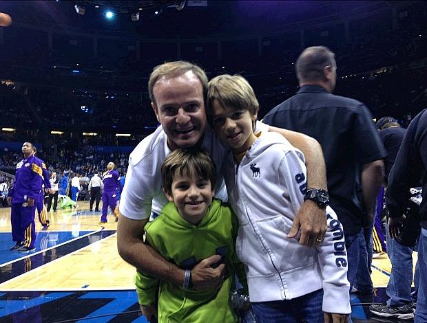 Rubens Barrichello NBA Orlando Magic x Los Angeles Lakers (Foto: Reprodução Twitter)