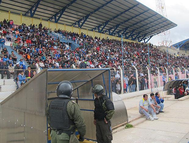 Torcida Flamengo estádio Potosi (Foto: Richard Souza / Globoesporte.com)