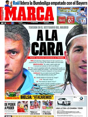 Capa do Marca Mourinho e Sergio Ramos (Foto: Divulgação/Marca.com)