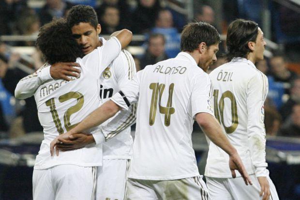 Comemoração - Real Madrid x Athletic Bilbao (Foto: Agência Efe)