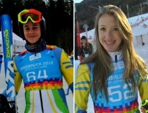 Tobias Macedo e Eliza Nobre, Jogos Olímpicos da Juventude de Inverno (Foto: Divulgação/CBDN)