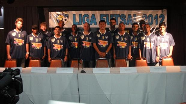 Botafogo apresenta o seu novo time de futsal (Foto: Divulgação)